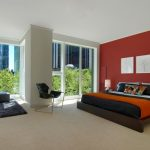 Best Colour Combination For Ur Bedroom Red Black Grey White Orange Paintings Bed Lamp Carpet Chair Modern Look