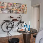bike rack for apartment dining room chairs mid size room door floor wall decor candles modern table
