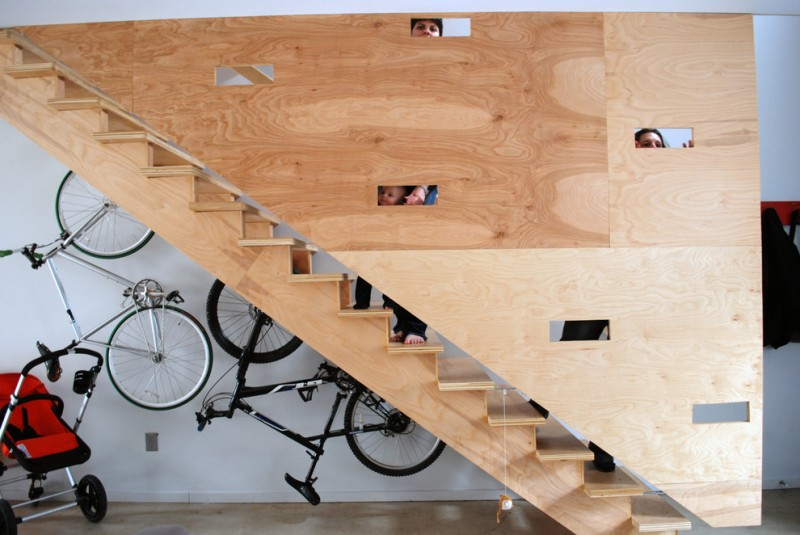 bike rack for apartment staircase bike bicycle wall rack light color wood stairs wood pattern wheels