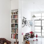 Bike Rack For Apartment Urban Entryway Glass Door Hanging Lamps Storage Items Tall Book Storage Seating Small Chairs