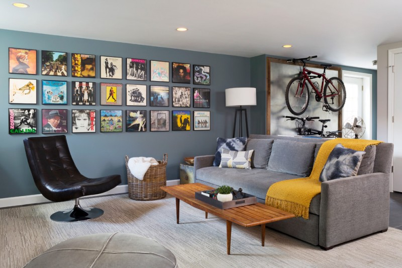 bike rack for apartment wooden table seating sofa pillow bicycles modern chair basket lamp ceiling lights fan