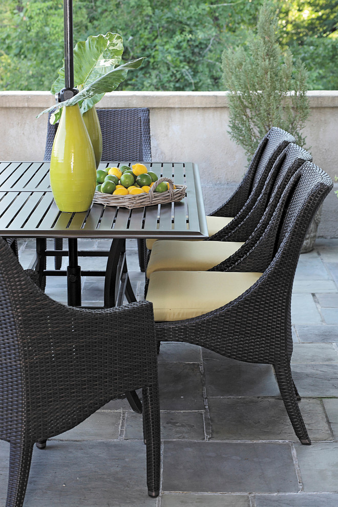 Wicker Chairs For Warmth In Dining Table Decohoms