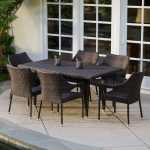 Black Wicker Woven Chair With Armrest And Match Table