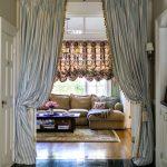 Blue White Vertical Stripes Curtain