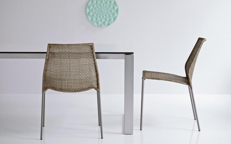 brown light wicker woven chair