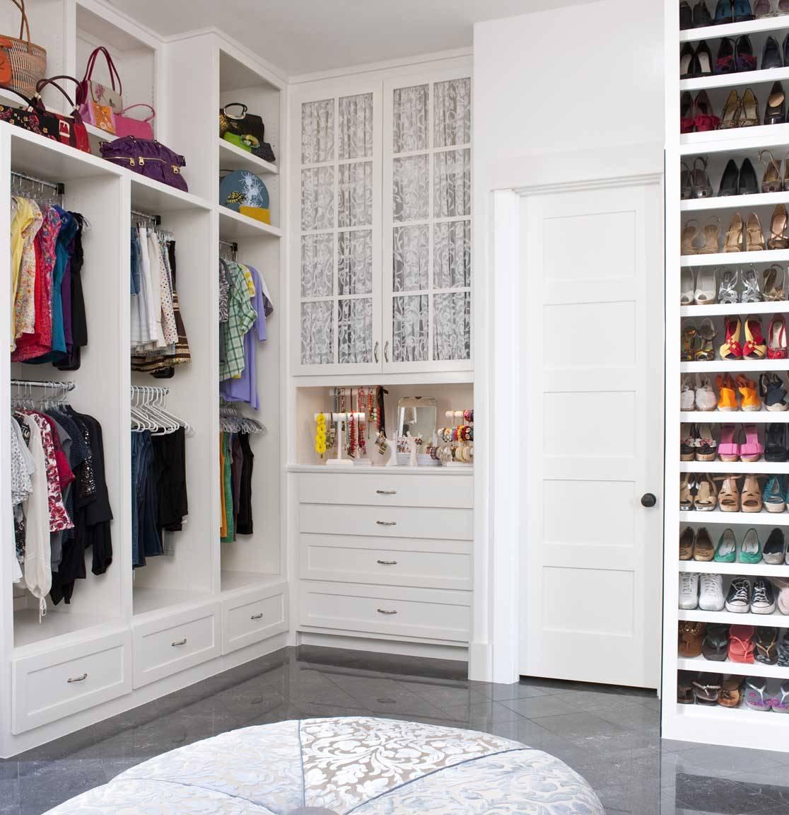 buit it closet wall mounted shoes rack open shelves jewelry shelf