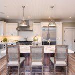 Cashmere Countertops Kitchen Wood Floor Chairs Hanging Lamps Door Cabinet Window Glass Faucet Sink Stove Lights