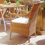 Close Pattern Wicker Weaving Chair In Cocoa