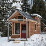 compact house designs door pillars wood exterior windows glass gable roof rustic look home exterior