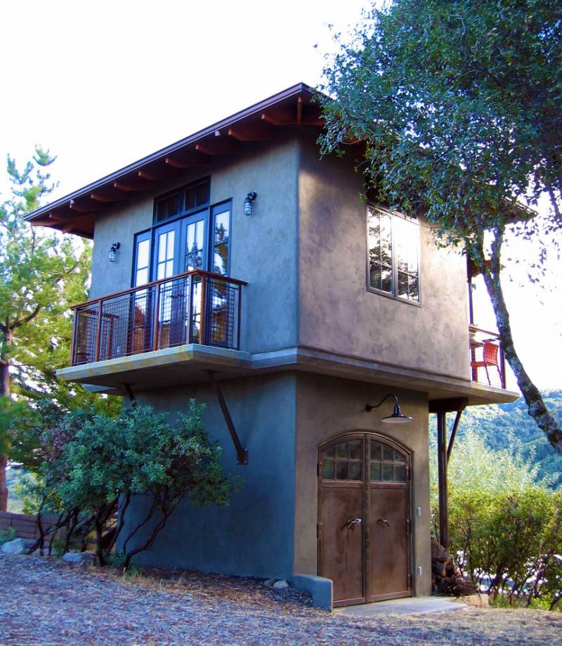 compact house designs doors windows glass lamp chair two story railing wall lights exterior traditional design