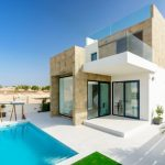 Compact House Designs Pool Contemporary Exterior Door Glass Grass Plants Two Story Contemporary House
