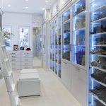 Contemporary Built In Closet LED Light Ladder Rail White Closet Adjustable Shelves