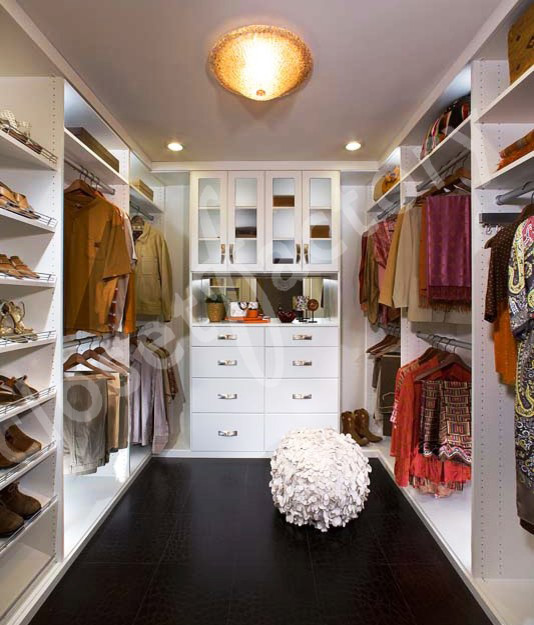 contemporary floor to ceiling closet open shoes shleves white open clothes shelves glass covering cabinet splendid light