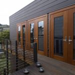 Dark Hardware Railing System For Modern Style Deck