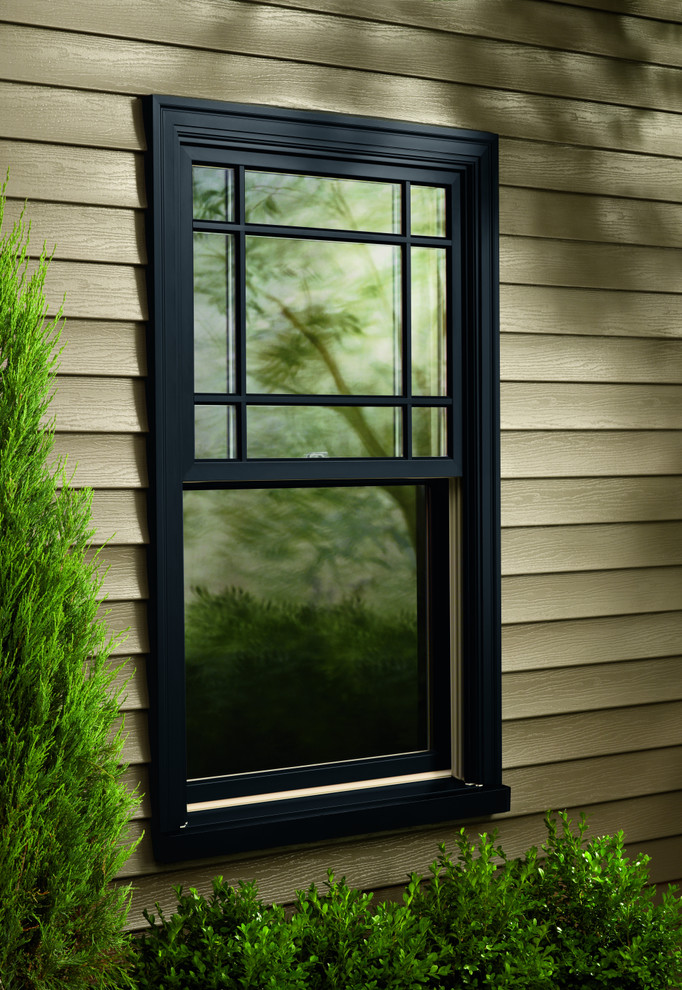 double hung window model with aluminum mold and mirror glass panel