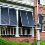 Exterior Windows With Black Exterior Shutters Front Porch With Black Exterior Shutters Red Bricks Walls System