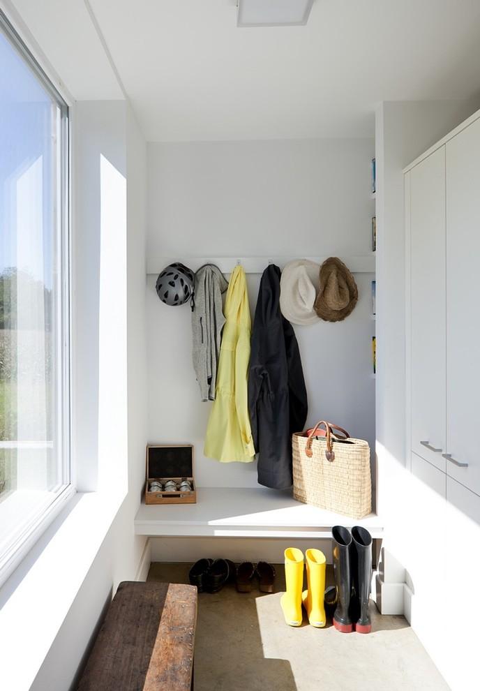 farmhouse closet organizer idea in white