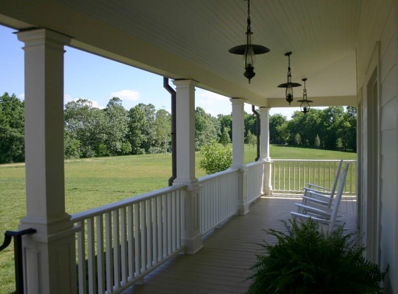 farmhouse rustic metal long porch lamps