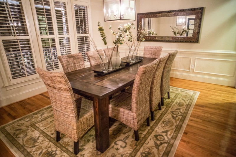 farmhouse wicker chair with tall back