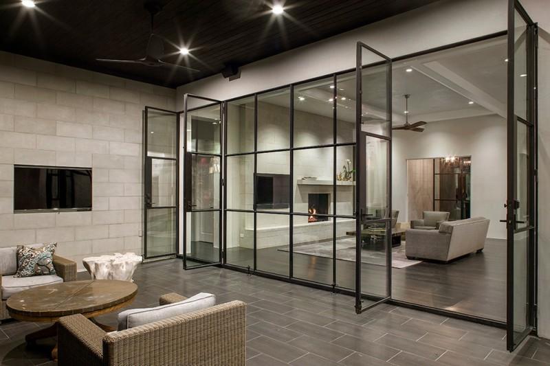 french glass swing door