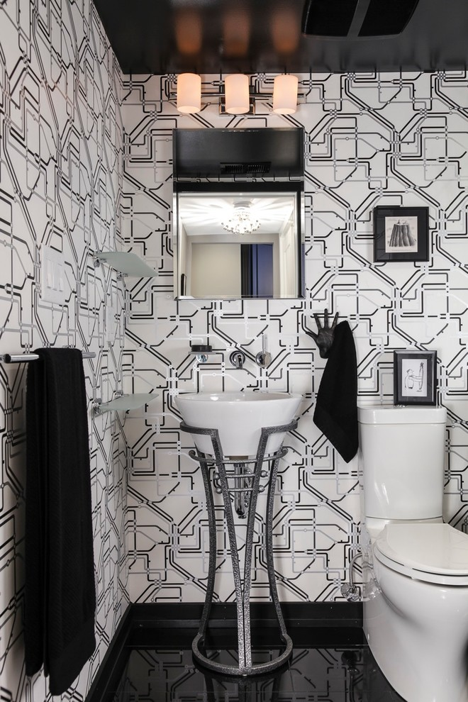 black and white modern bathroom clever ideas for beautiful minimalist half bathroom decohoms 22747