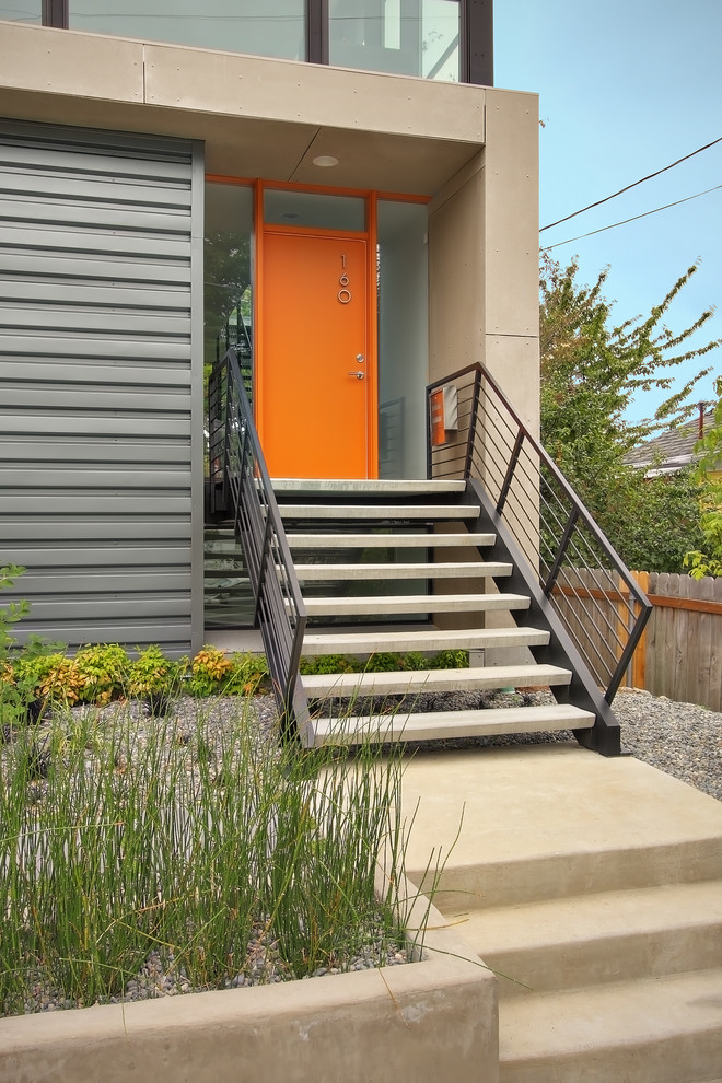 hardware railing idea for front staircase bright front door with glass panels additions at right and left side