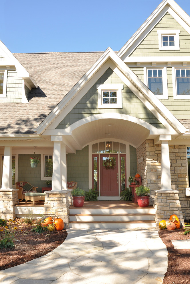 hill country house plans pathway seating plants stairs pots redwood door stone accents marvin windows pillars roof lights