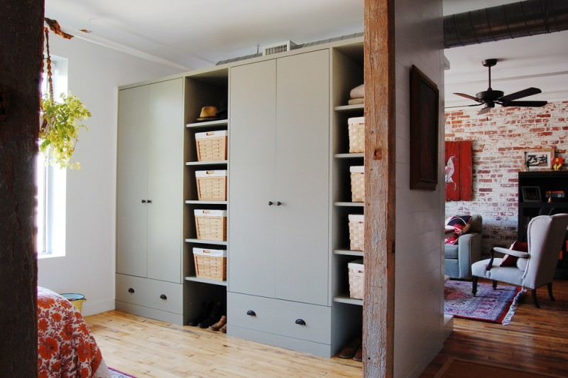 industrial closet storage for linens and clothings