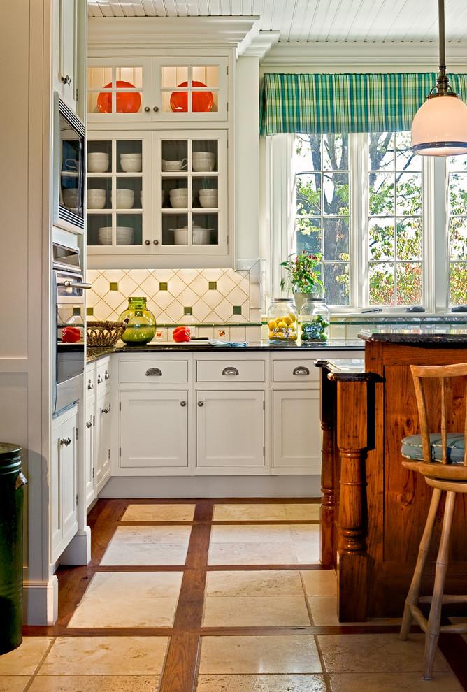 kitchen flooring windows dining chair wood hanging lamp storage space white cabinets trash bin wood frames
