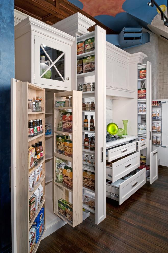 kitchen with white wooden superb storage, cabinets