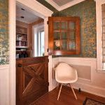 Luxurious House Door Design Dutch Door Wooden Floor Wall Patterns Carpet Chair Window Bookshelf Wood