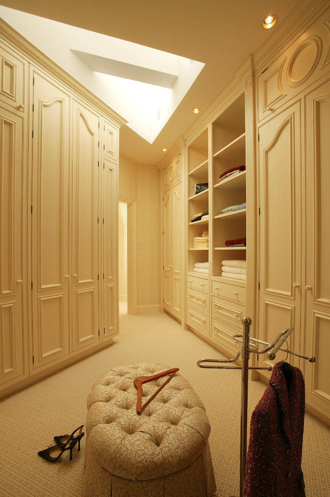 luxurious traditional walk in closet in warm tone and skylight addition chair slipcover unique hooker for jacket or coat