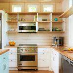 Modern White Horizontal Wood Paneling In Kitchen