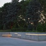 Outdoor LED Tape Lighting On The Wall