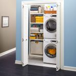 Recessed Walk In Closet For Laundries With Ventilated Doors