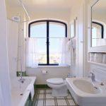 Semi Transparent Tier Curtains White Shower Curtains Free Standing Vanity With Undermount Sink White Bathtub Mirror With Back Storage