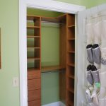 Small But Trendy Walk In Closet Idea Which Is Made From Wooden