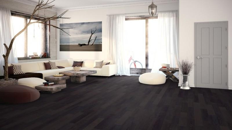 spacious dark hardwood floor engineered floors customized table modern sofa nature picture