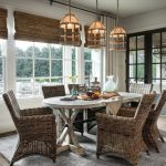 Table Cloth For Wood Dining Room Table Chairs Carpet Wood Floor Hanging Lamos Windows Doors Glass Curtains