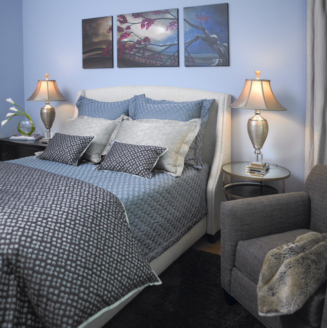 textured blue bed sheet idea bold grey blue comforter light grey pillow shams textured blue pillow shams small bold grey blue pillows blue wall system grey armchair with grey blanket