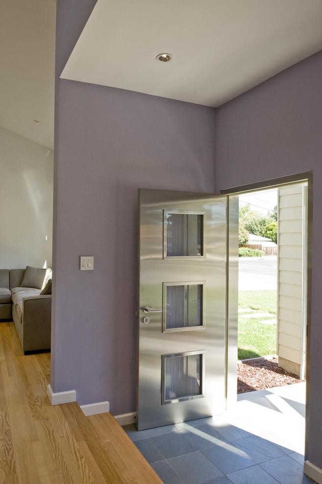 unique steel doors entryway floor tile wood floor light purple ceiling lamp sofa switch door hangle metal door