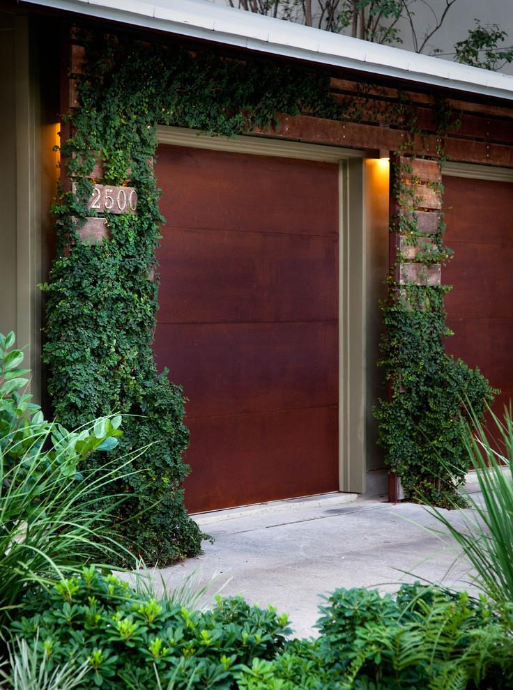 unique steel doors garage cor ten steel door plants modern lighting rust like appearance house exterior