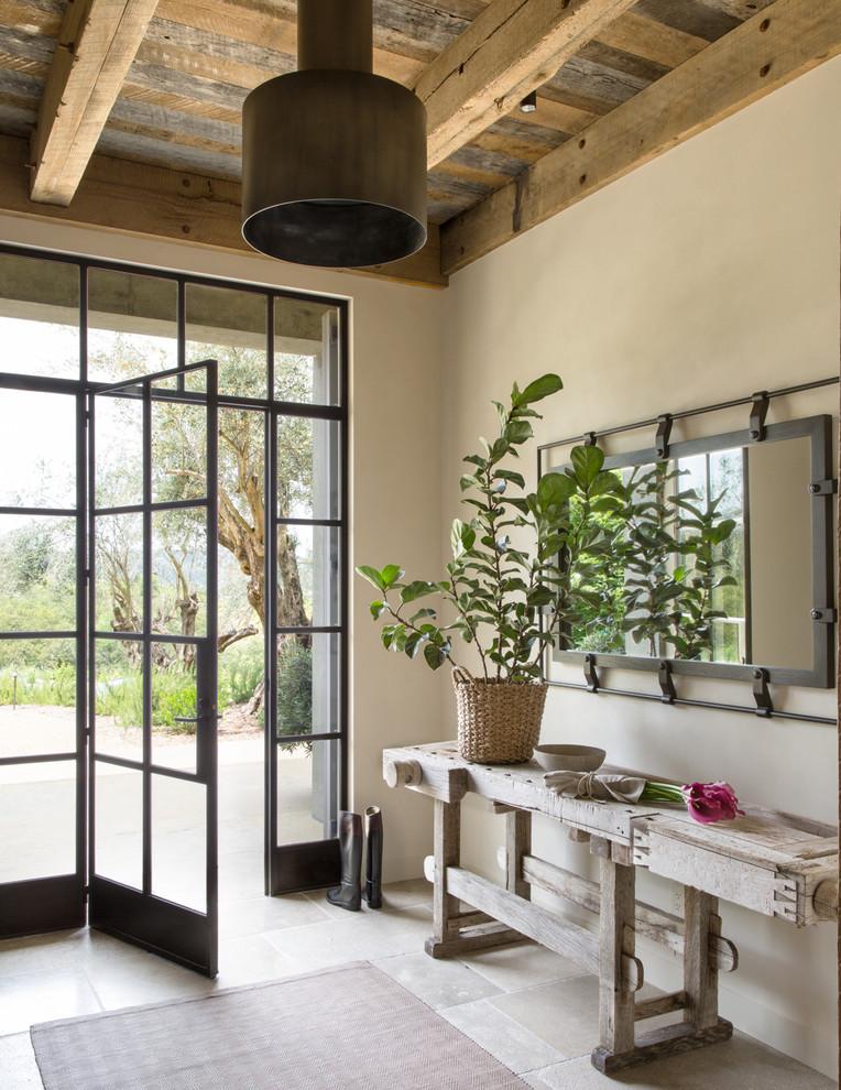 unique steel doors metal door window unique table basket plant glass wooden ceiling lighting interior