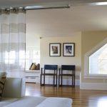 White Brown Stripes See Through Curtain