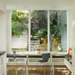 window outside finishing designs modern dining chairs bench pillows table cabinet glass big low windows