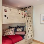 Wooden Bunk Beds With White Tainted Wood, Storage Under