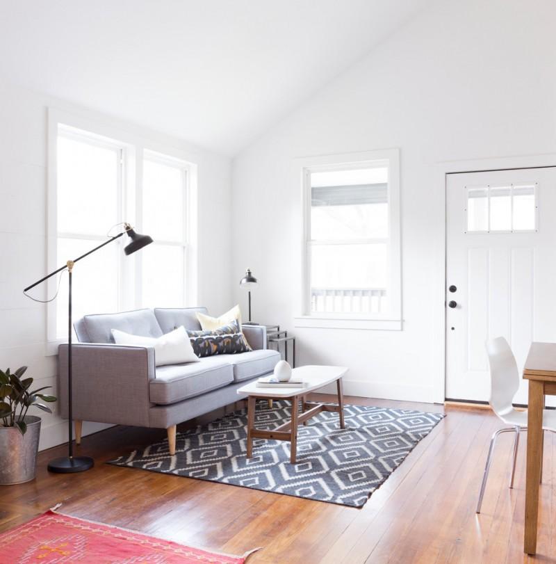 Scandinavian furniture austin small living room decorating ideas white walls medium tone hardwood floors