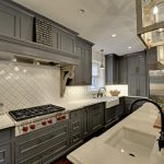 Arabesque Backsplash Kitchen Chandeliers Wall Cabinets Elegant Narrow Kitchen Traditional Kitchen Window Hanging Light Ceiling Lamps