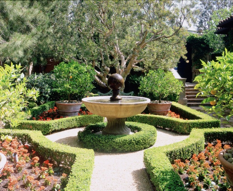 beautiful home gardens with fountains flowers stairs fruits trees traditional landscape