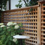 Brown Wood Fence With Plaid Pattern
